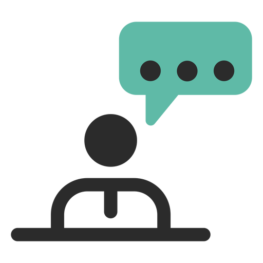 Personal talk contact icon Transparent PNG