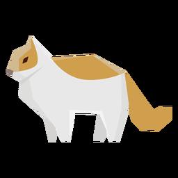 Ilustración geométrica del gato del animal doméstico