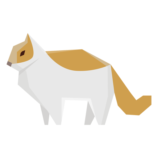 Pet cat geometric illustration Transparent PNG