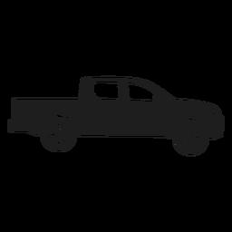 Silhueta de vista lateral de carro de coleta