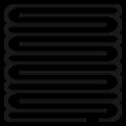 Pilha de ícone de traçado de toalhas