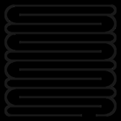 Pila de toallas icono de trazo Transparent PNG