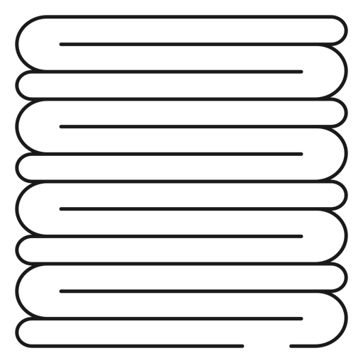 Pile of towels stroke icon Transparent PNG