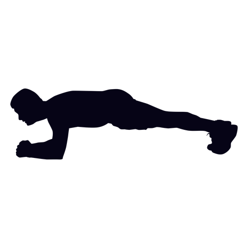 Plank crossfit silhouette Transparent PNG