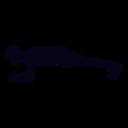 Silhueta de crossfit de prancha Transparent PNG