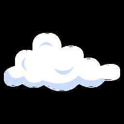 Ilustración de nube hinchada