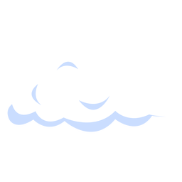 Puffy cloud illustration