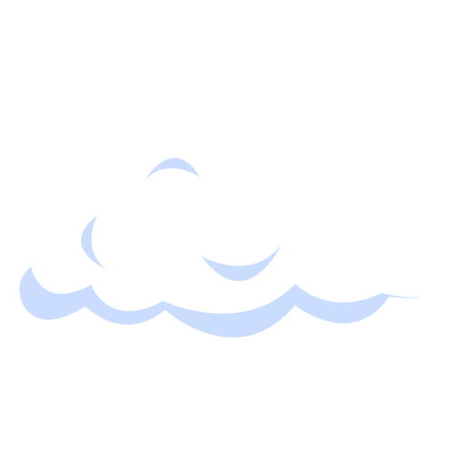 Puffy cloud illustration Transparent PNG