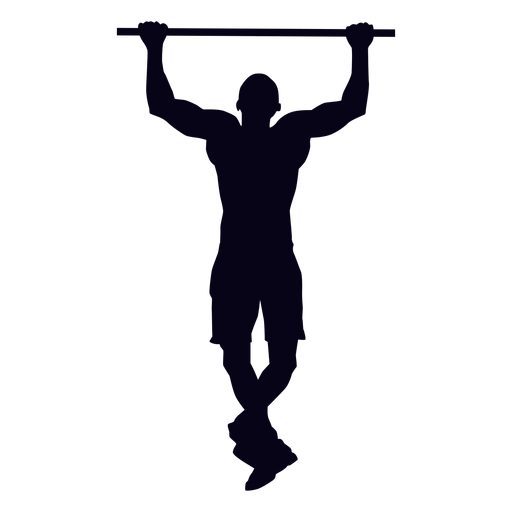 Pull up crossfit silhouette Transparent PNG
