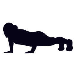 Push up crossfit silhouette