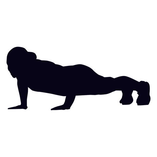Push up crossfit silhouette Transparent PNG