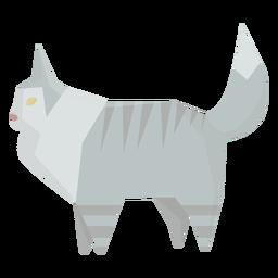 Ilustração geométrica de gato Ragdoll