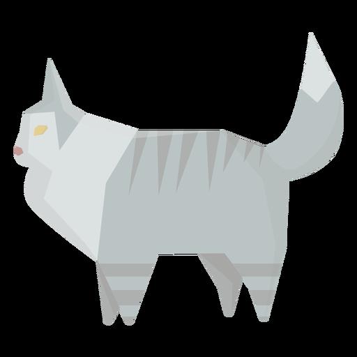 Geometrische Illustration der Ragdoll-Katze Transparent PNG