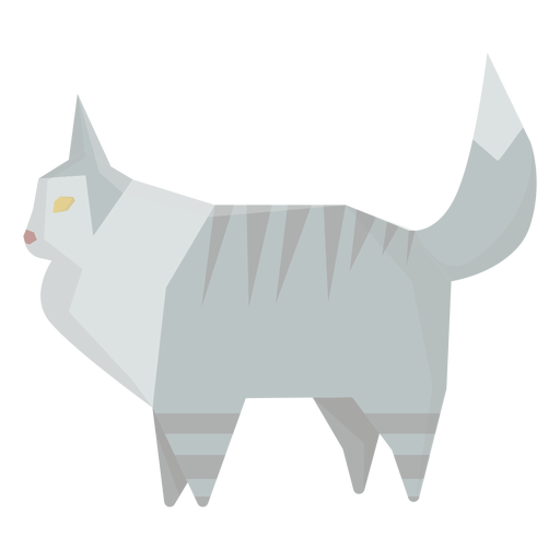 Ilustração geométrica de gato Ragdoll Transparent PNG