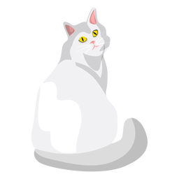 Ilustración del gato ragdoll