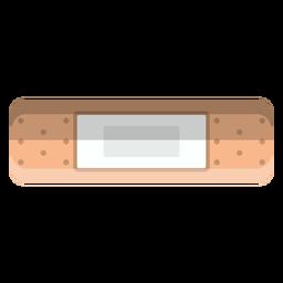 Ícone de bandagem adesiva retangular