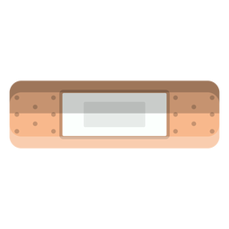 Rectangle adhesive bandage icon