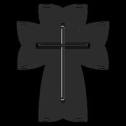 Ícone de cruz cristã religiosa