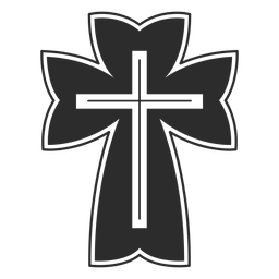 Icono de cruz cristiana religiosa