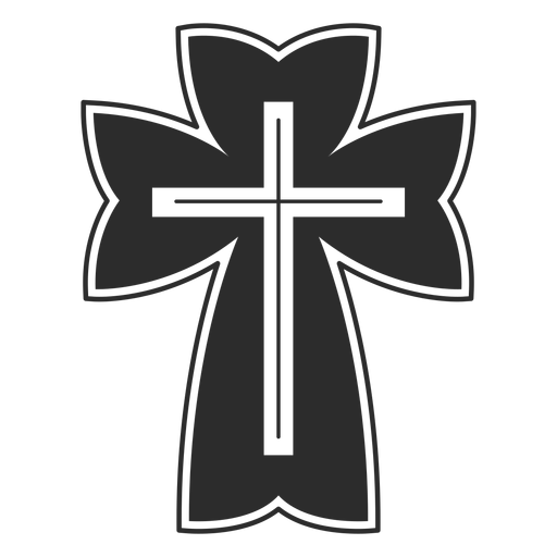 Religious christian cross icon Transparent PNG