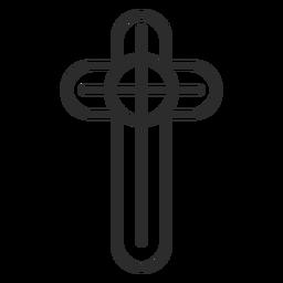 Ícone de traço cruzado cristão religioso