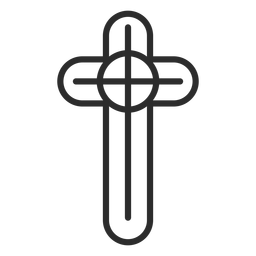 Religious christian cross stroke icon