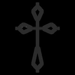 Ícone de traço cruzado religioso