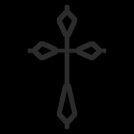 Icono de trazo cruzado religioso Transparent PNG