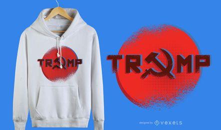 Trump estilo russo Design gráfico de t-shirt