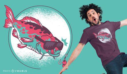 Diseño gráfico de la camiseta de la pesca de la carpa y de los boilies