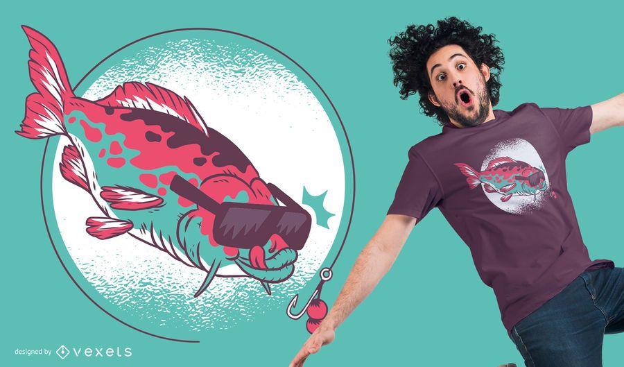 Karpfen und Boilies, die grafisches T-Shirt Design fischen