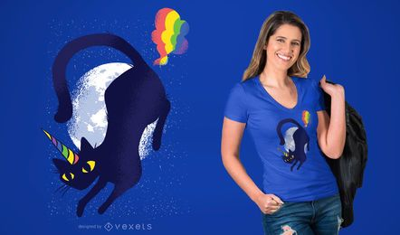 Caticorn Cat Unicorn Grafik T-Shirt Design