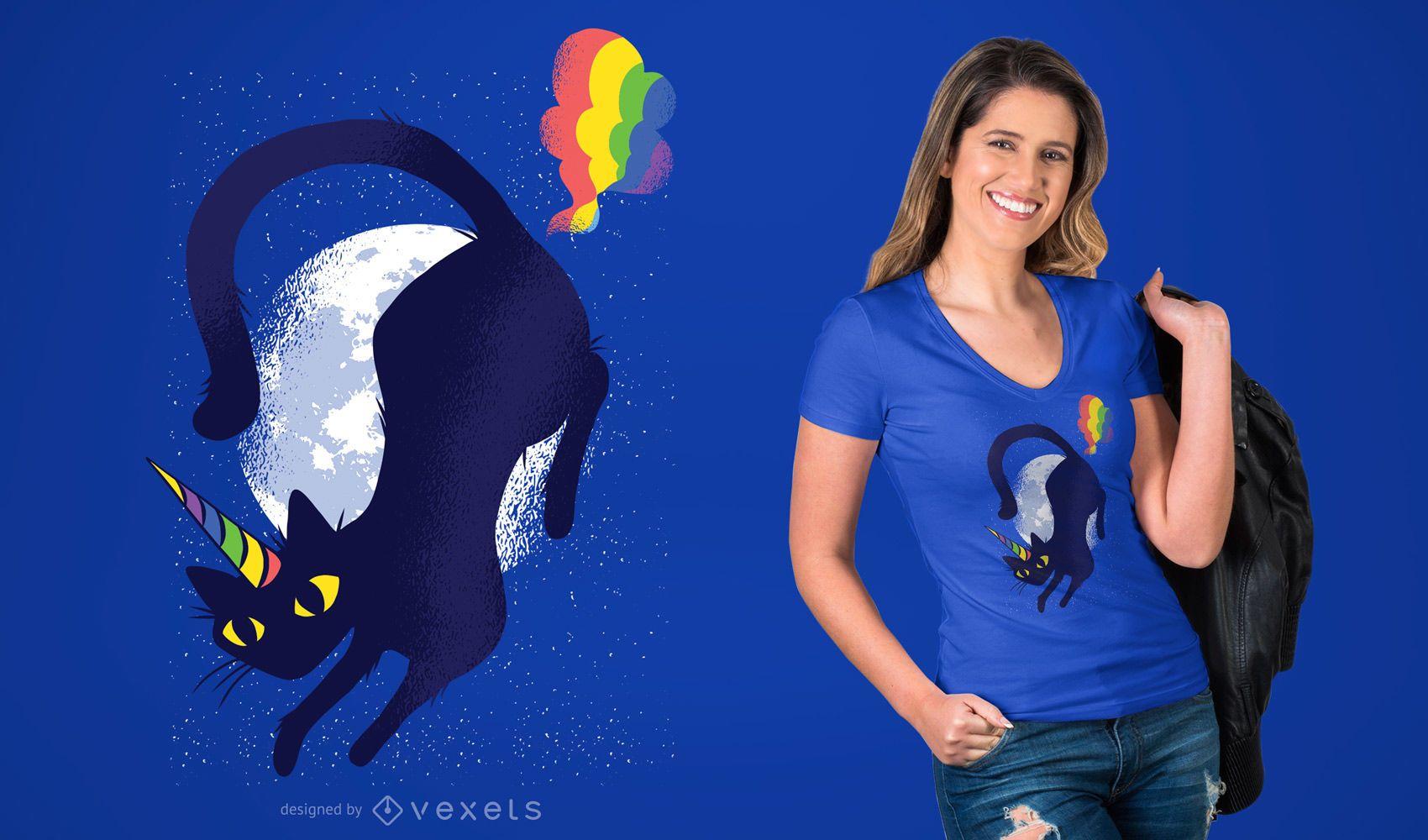 Caticorn Cat Unicorn Graphic T-shirt Design