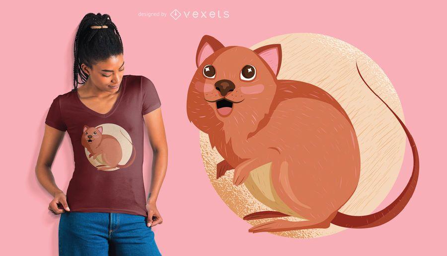 Diseño de camiseta quokka