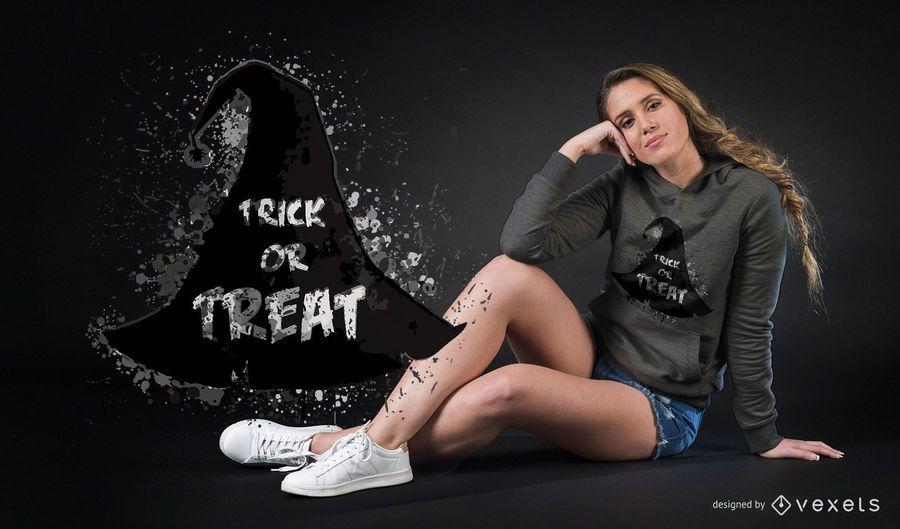Witch hat Halloween t-shirt design