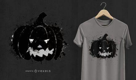 Projeto do t-shirt do Dia das Bruxas da abóbora
