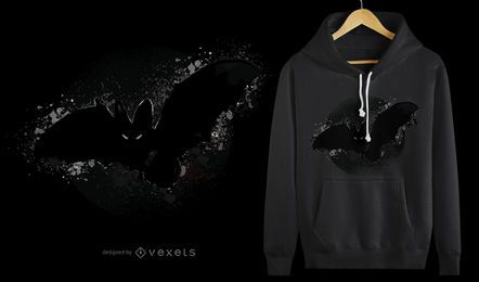 Diseño de camiseta bat halloween.