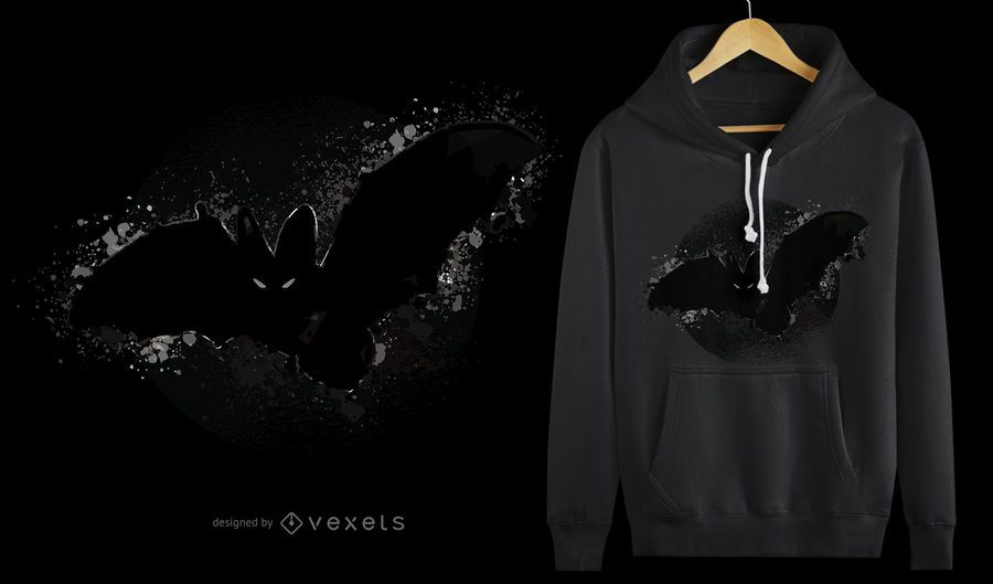 Bat Halloween t-shirt design