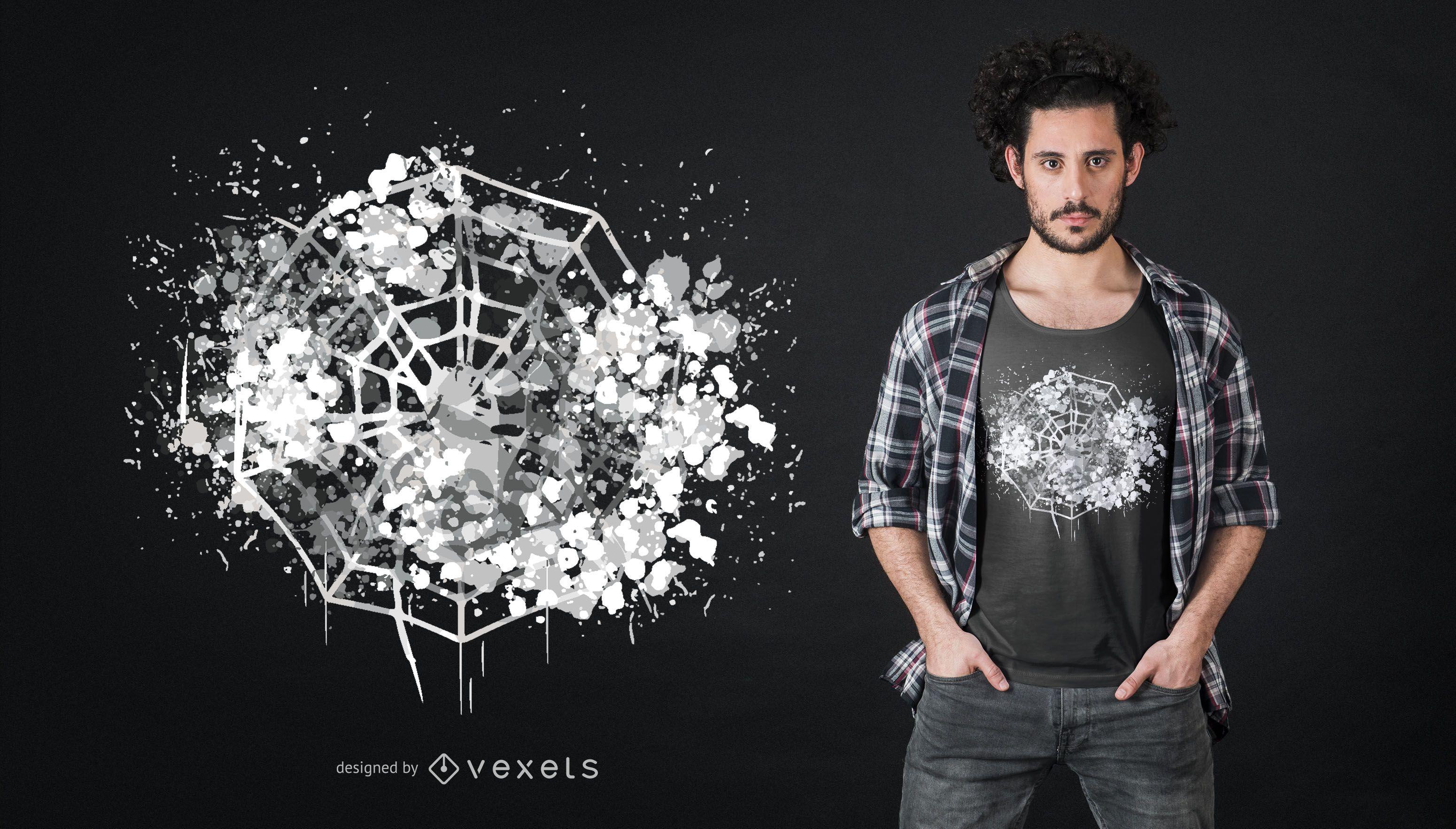 Diseño de camiseta Spider Web Halloween