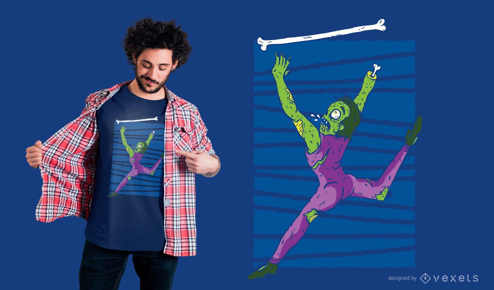Zombie baton twirling t-shirt design