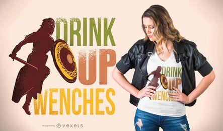 Bebe hasta el diseño de la camiseta wenches