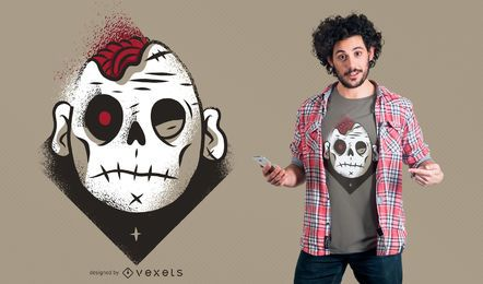 Projeto escuro do t-shirt do zombi