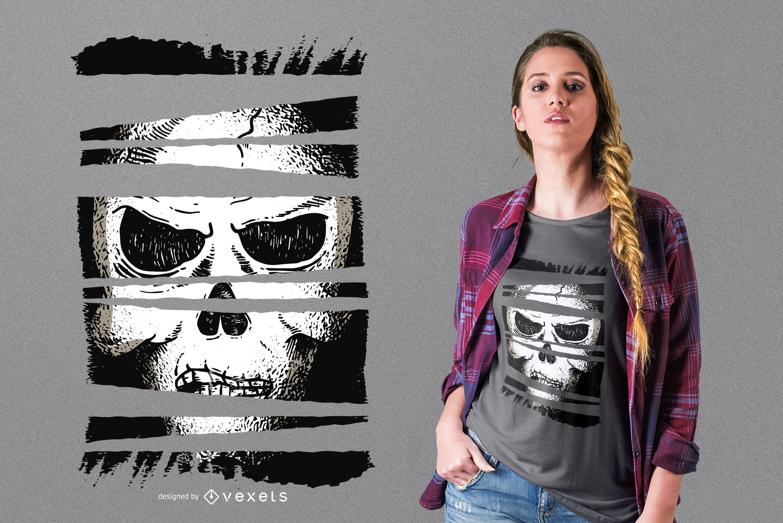 Dark skull t-shirt design