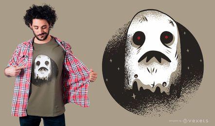 Diseño de camiseta fantasma oscuro