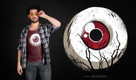 Diseño de camiseta de bola de ojo oscuro