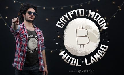 Crypto moon t-shirt design