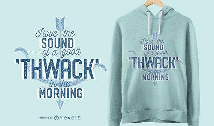 Diseño de camiseta de tiro con arco thwack