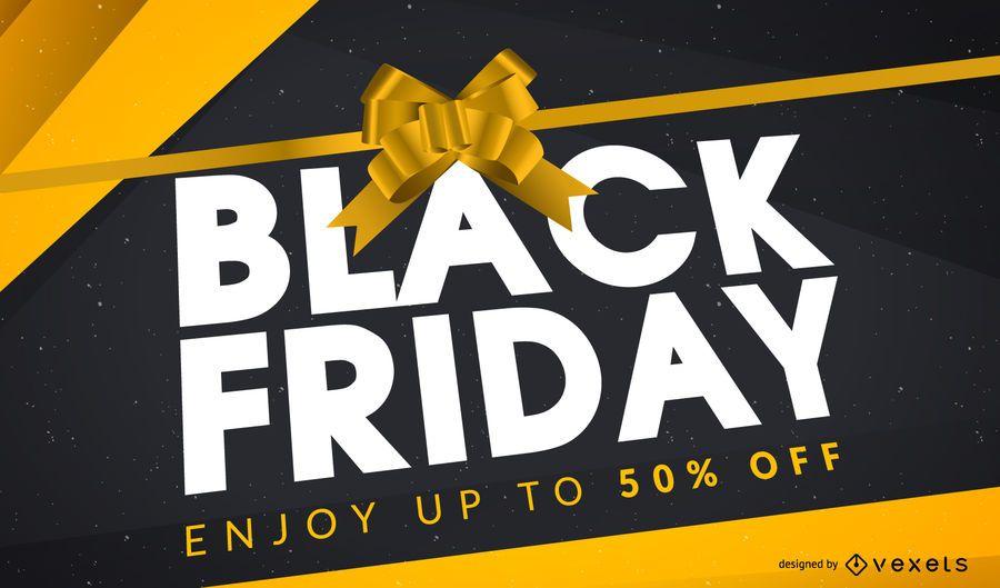 Diseño de regalo de viernes negro