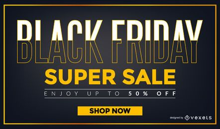 Black Friday Super venta diseño
