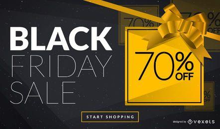 Diseño de anuncios web Black Friday